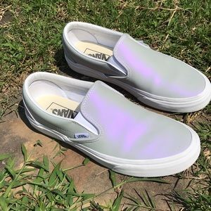 8f3762759a Vans Shoes - VANS IRIDESCENT MUTED METALLIC GREY   WHITE 8.5